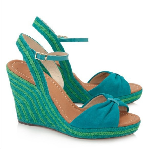 8a47bc81b209 kate spade Shoes - Kate Spade Turquoise Blue Green Espadrille Wedges